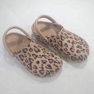 Crocs Leopard Printed Clogs
